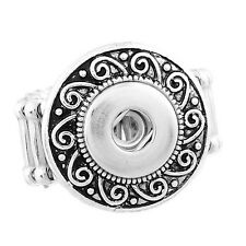 Wholesale Lots Adjustable Stretch Ring Fit Mini Snap Buttons size 7.5 Spiral