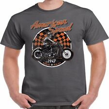 Men's Biker T shirt Classic Vintage Motorcycle Motorbike Bobber Chopper Bike 116