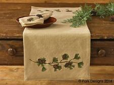 "Park Designs Burlap & Pine (Pinecone) 13"" x 36"" Table Runner  **FREE SHIPPING**"