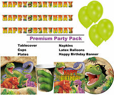 Dinosaur T-Rex 8-48 Guest Premium Party Pack | Tableware | Balloons | Decoration