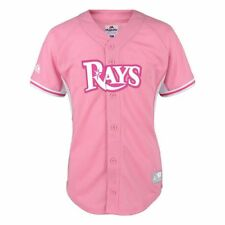 NWT Majestic Tampa Bay Rays MLB Youth Girls Batting Practice Jersey - Pink