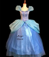 P131 COSPLAY Dress Princess Cinderella Costume tailor made kid adult GOWN