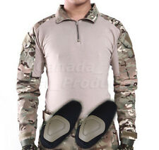 Tactical Hunting Military Long Sleeve Shirt with Elbow Pads Camo Multicam MC