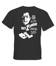 Printed Men's T Shirt White Zombie (BANG1611)