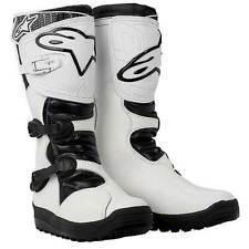 ALPINESTARS No Stop Trials Motorcycle Boots (White) Choose Size