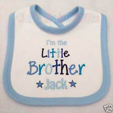 Personalised Little Brother or Little Sister Bib, Embroidered with any name Gift