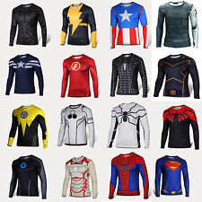 New Superhero Costume T Shirt Avengers Captain Batman Ironman Jersey Cycling Tee