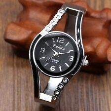 Fashion Casual Womens Alloy Band Quartz Movement Wrist Watch Bracelet Bangle