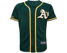 NWT Majestic Oakland Athletics MLB Kids 4-7 Alternate Green Replica Jersey