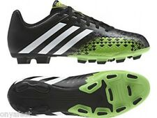 MENS ADIDAS PREDITO LZ TRX FIRM GROUND FOOTBALL BOOTS BLACK GREEN WHITE CLEATS