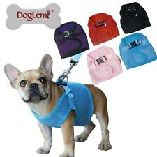 Pet Puppy Dog Cat Soft Mesh Walking Harness Vest With Matching Leash