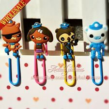4PCS The Octonauts Creative Bookmarks,Staionery Paper Clips,School Supply Gifts