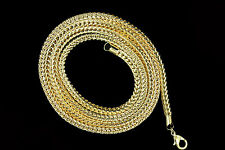 MENS 3MM 14K GOLD PLATED PREMIUM QUALITY HIP HOP FRANCO CHAIN NECKLACE