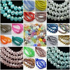 Bulk Loose Glass Crystal Faceted Rondelle Spacer Beads 3mm/4mm/6mm/8mm