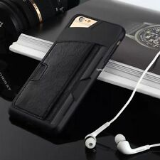 Shockproof TPU Leather Credit Card ID Holder Wallet Case Cover for Apple iPhone