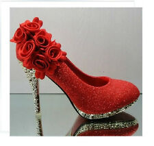 Sexy Bride high heels Red Shoes for Wedding / Prom Dances