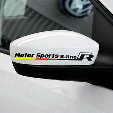 1 pair Motor Sports R-line auto rear view mirror car sticker decal emblem for VW