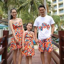 Family Colthing Matching Mother Daughter Dresses Outfits Summer Dress for Women