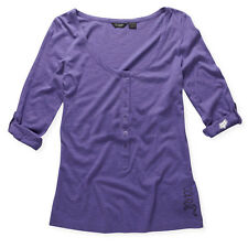 FOX RACING GRAMERCY HENLEY JR. WOMENS BUTTON UP T-SHIRT BRAND NEW
