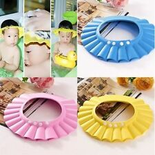 Nice Hot Baby Kids Shampoo Bath Bathing Shower Cap Hat Wash Hair Shield