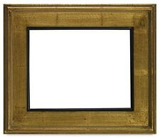 """CLASSIC MODERN STYLE PICTURE PAINT FRAME PLEIN AIR WOOD GOLD CRACKLE 3 1/4"""" WIDE"""
