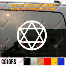Jewish Star Of David Magen David Israel Car Decal Sticker