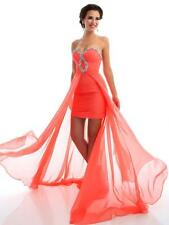 Gorgeous Short Cocktail Dress Evening Gown, Prom Dress With Sheer Overlay 6-16