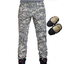 Military Tactical Airsoft Shooting Hunting Paintball Combat Pants Knee Pads ACU