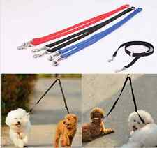 TWO WAY DOUBLE LEASH DOG LEAD COLLAR - WALK WALKING 2 DOGS - NYLON - HARNESS CIT