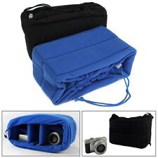 Shockproof Camera Lens Case Insert Cushion Partition Padded Bag For DSLR SLR New