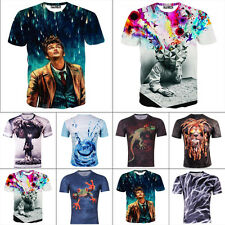 Casual T-Shirts 3D printing New Tops Crew Neck Short Sleeve Men's Tee Slim Fit
