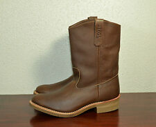RED WING BROWN LEATHER PECOS BOOTS MADE IN USA 1155 NIB