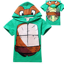 Teenage Mutant Ninja Turtles Clothing Kids Boys Hoody T shirts Tops Short Sleeve