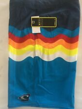 oneill board short men's jordy freak 20 inches long color turquoise