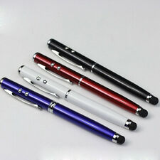 NEW 4 in 1 LED Laser Pointer Torch Touch Screen Stylus Ball Pen for iPhone iPad