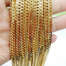 Wholesale 5/10 Meters Gold Tone 5mm Shiny Mens Jewelry Stainless Steel Chain