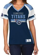 "Tennessee Titans Women's Majestic NFL ""Draft Me"" Jersey Top Shirt - Navy"