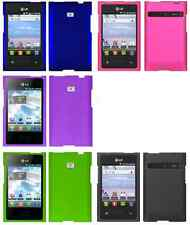 Color Hard Rubberized Case Cover for LG Optimus Logic L35g