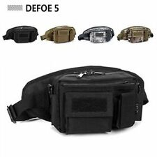 Black Military 3 in 1 Money Belt Waterproof Tactical Gear Defense Waist Pack