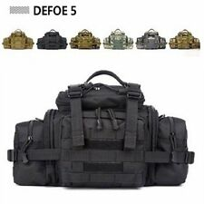 Black Large Tablet Camera Tactical Gear Military Waist Shoulder Tote Army Bag