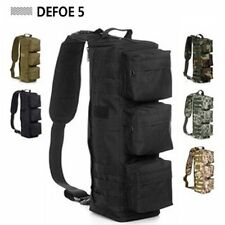 Black Tactical Outdoor Sport Bag Shoulder Messenger Sling Riding Backpack