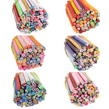 50pcs Mixed Styles Fimo Polymer Clay Cane Nail Stickers DIY Nail Art Decal New