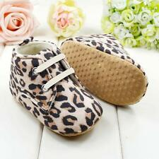 Toddler Infant Baby Leopard Print Anti-slip Soft Bottom Crib Shoes Sneakers  T63