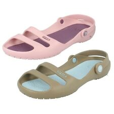 LADIES CROCS SUMMER CASUAL SANDALS CLEO II PINK PURPLE KHAKI & BLUE SHOES 11214