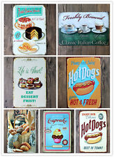 Metal Poster Cafe Wall Decor Tavern Shabby Chic Bar Club Vintage Tin Sign Plaque