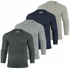 Mens Brave Soul Knit Jumper Crew Neck Knitted Sweater Top S-XL