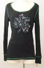 Style & co. Striped Embellished Shamrock Top M, L, XL