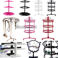 Jewelry Holder Organizer Bracelet Necklace Earrings Stand Hanging Display Rack