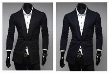Fashion Mens Stylish Casual Slim Fit One Button Suit Blazer Coat Jacket Tops Hot