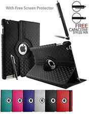 3D Diamond 360° Rotate Folding Stand Case Cover For Apple iPad 2✔3✔4✔5✔6 mini